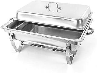 Futchoy Chauffe-Plats 9L Réchauffeur de Nourriture en Acier Inoxydable avec Couvercle pour Libre-Service, Restaurants