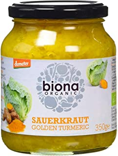 Biona Organic Sauerkraut Golden Turmeric, 350g