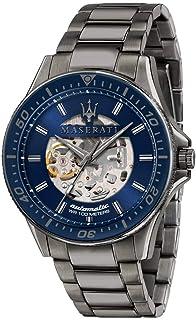 Maserati - Reloj para Hombre, Colección Sfida, en Acero Inoxidable, PVD Gris, con Correa de Acero Inoxidable - R8823140001
