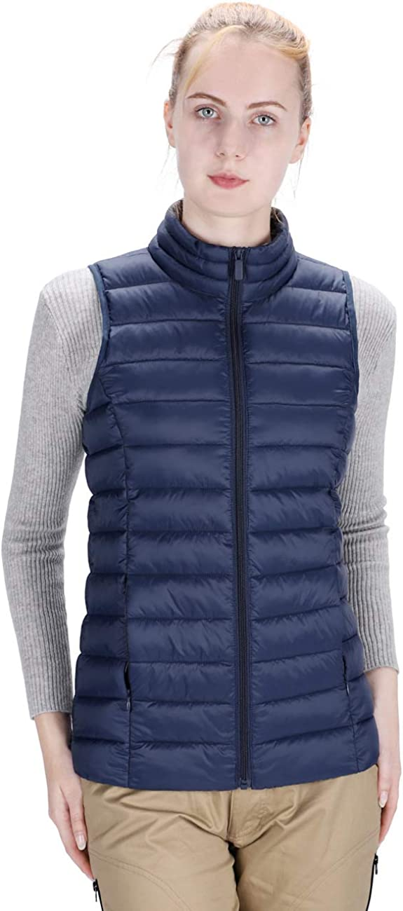 DISHANG Women's Winter In a popularity Max 78% OFF Puffer Vest Jacket Sleeveless Outd Up Zip