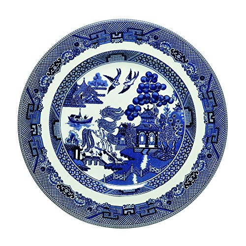 Johnson Brothers Willow Blue Dinnerware 7 3/4-Inch Salad Plates, Set of 4