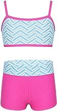 CHICTRY Kids' Girls' Two Piece Summer Tankini Swimsuit Holiday Beach Swimwear Sports Crop Top with Boyleg Short Set