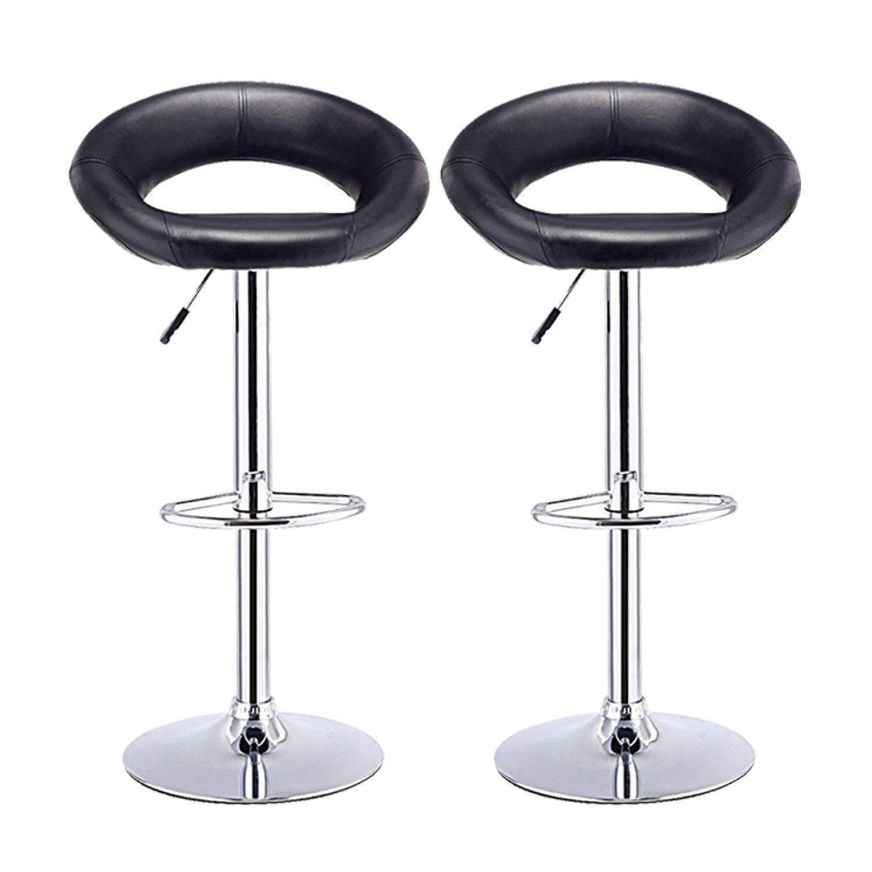 Adjustable,Grand Si/ège et Base Comptoir ou Cuisine,Noir ABS pour Bar Leader Accessories Tabourets de Bar,Hauteur R/églable,en Forme de Croissant,en Plastique