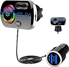 Bluetooth 5.0 FM Transmitter, SONRU Auto Bluetooth Radio Adapter Freisprecheinrichtung..