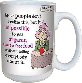 Tree-Free Greetings 15-Ounce (443ml) Ceramic Mug with Full-Sized Handle, Aunty Acid Organic and Gluten Free, Multi-Colour,...