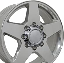 OE Wheels 20 Inch Fits Chevy Silverado 2500HD 3500HD GMC Sierra 2500HD 3500HD 8x180 Heavy Duty Silverado Style CV91B Polished 20x8.5 Rim Hollander 5503