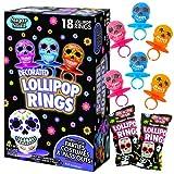 Halloween Day of the Dead Sugar Skull Lollipop Rings,...