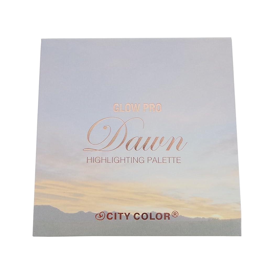 スケート単位お父さん(3 Pack) CITY COLOR Glow Pro Dawn Highlighting Palette (並行輸入品)