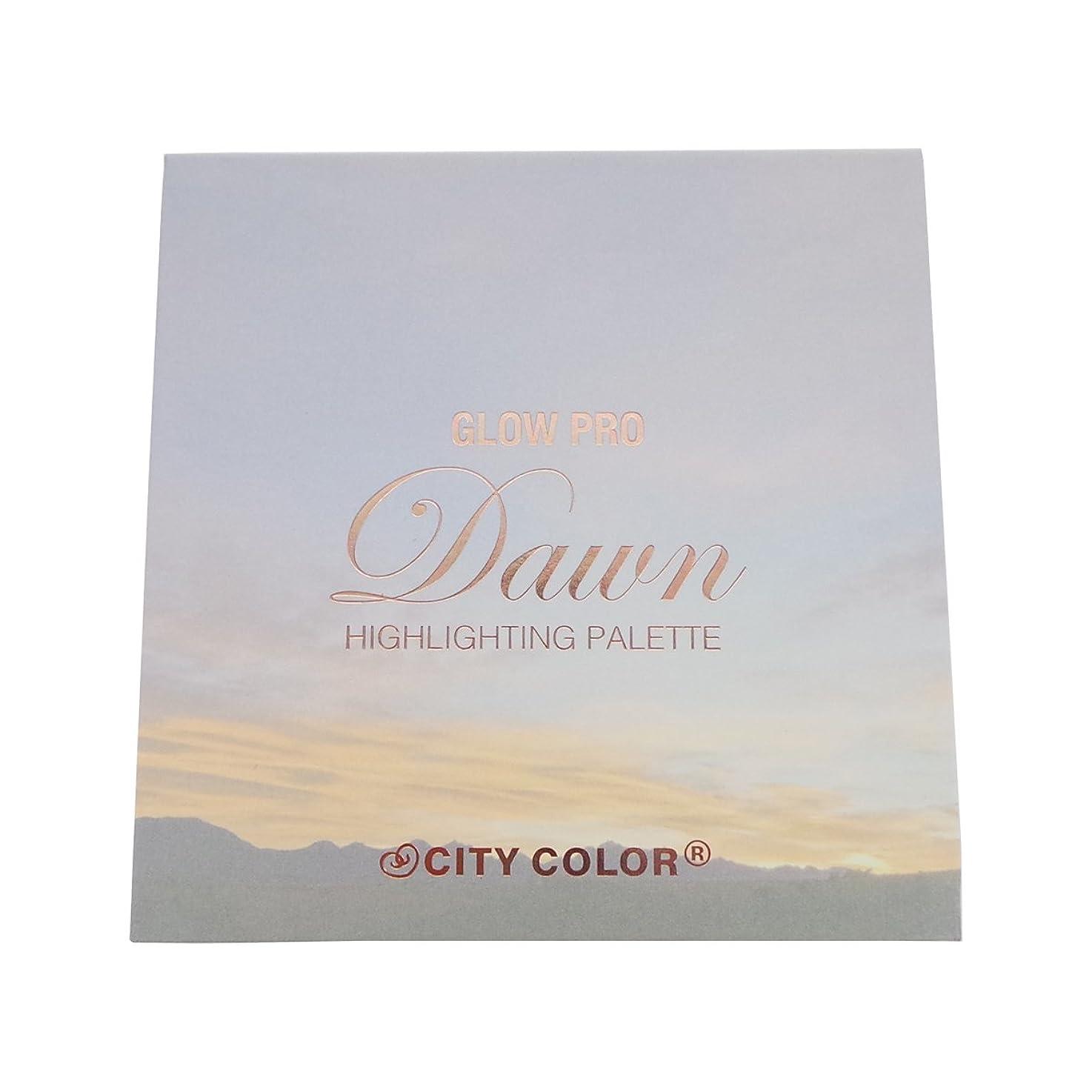 居住者構成員懐疑論(3 Pack) CITY COLOR Glow Pro Dawn Highlighting Palette (並行輸入品)