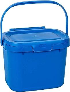 Addis 518535 Everyday Kitchen Poubelle à Compost Bleu Cobalt 4,5 l, Plastique, Caddy
