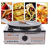 TFCFL Commercial Crepe Maker 15.7-Inch Electric Crepe Maker Industrial Crepe Maker with Single Diameter Heating Plates for Pancake Pan Griddle