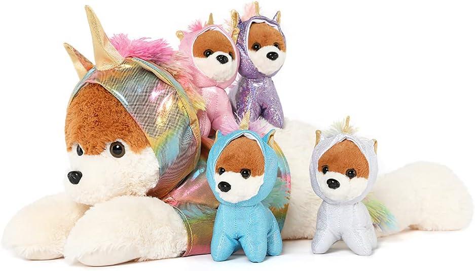 Muiteiur Giant Unicorn Stuffed Animal shopping trust Cute wit Dog Mommy