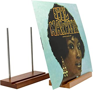 Big Fudge Wooden Record Holder Stand. Now Playing Vinyl Record Stand and Display Stand Record Storage for Special LP Album...