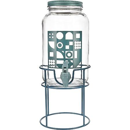 Quid - VIBA - Distributeur de boissons 3L avec support, turquoise, 7944070