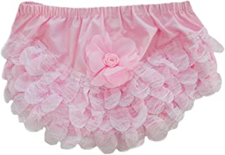 BABY GIRL WHITE SATIN//PINK ROSEBUD FRILLY KNICKERS//NAPPY COVER 0-12 MONTHS