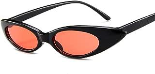 Mini Vintage Retro Extra Narrow Oval Round Skinny Cat Eye Sun Eye Glass Sunglasses (Color : NO.2)