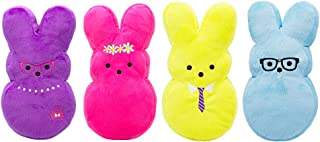 Peeps Plush Bunny Toys for Dogs and Puppies   Medium and Large Squeaker Dog Toys for Easter and All Year Round