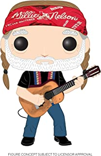 Funko Pop! Rocks: Willie Nelson, multicolor, 3.75 pulgadas