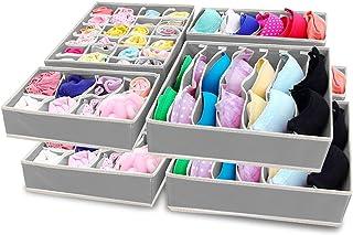 SITAKE Składany organizer na bieliznę, 8-częściowy zestaw - pudełka do przechowywania pod łóżkiem organizer do naczyń, biu...