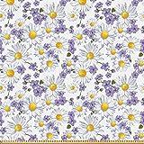 ABAKUHAUS Blumen Stoff als Meterware, Blühende Wilde