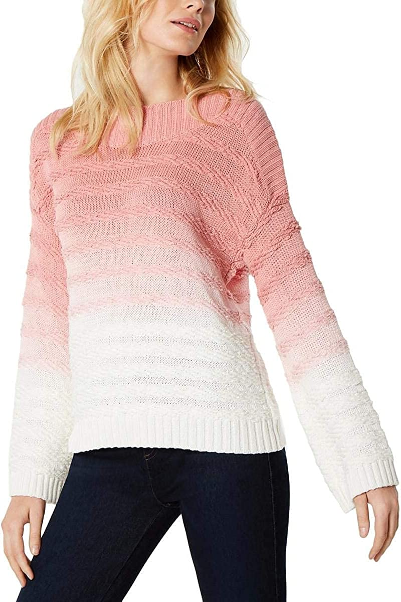 I-N-C Womens Cable Knit Pullover Sweater
