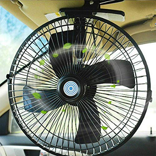 MASO 10inch 24V Car Truck Home Electric Air Fan 2 Speed Airflow Desk Fans with Clip