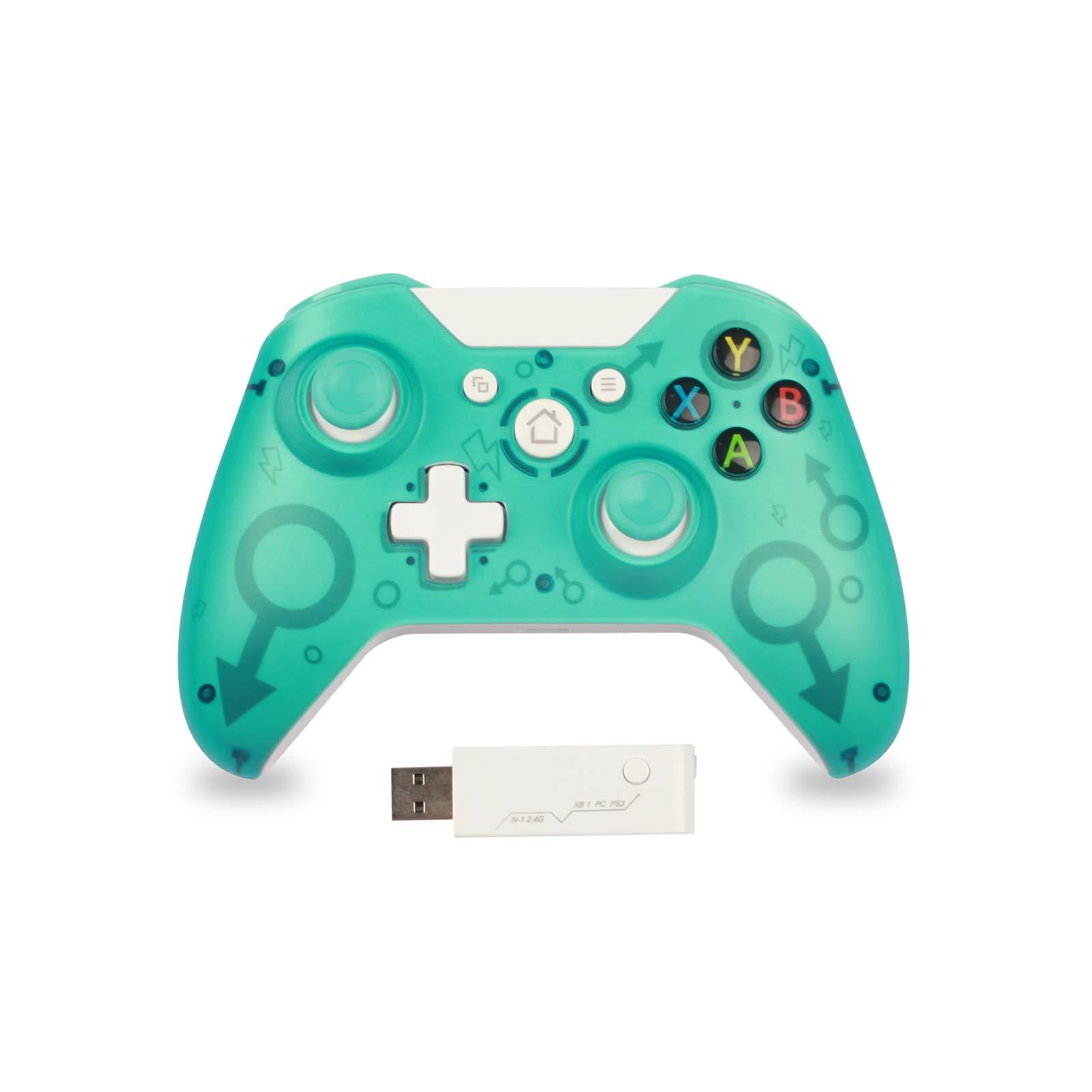 Mando para PC Mando para Xbox One Mando Inalámbrico Compatible con Xbox One /PS3/PC 2.4G Wireless Gamepad Joystick Inalámbrico(Verde): Amazon.es: Videojuegos