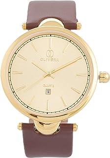 اولوفيرا ساعة رسمية للرجال، انالوج، جلد، OGL2033