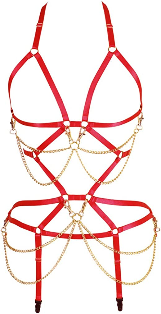 Body Chain Harness for Ranking TOP5 Women Strappy Breast Bra Ga and Full Limited time for free shipping Cage
