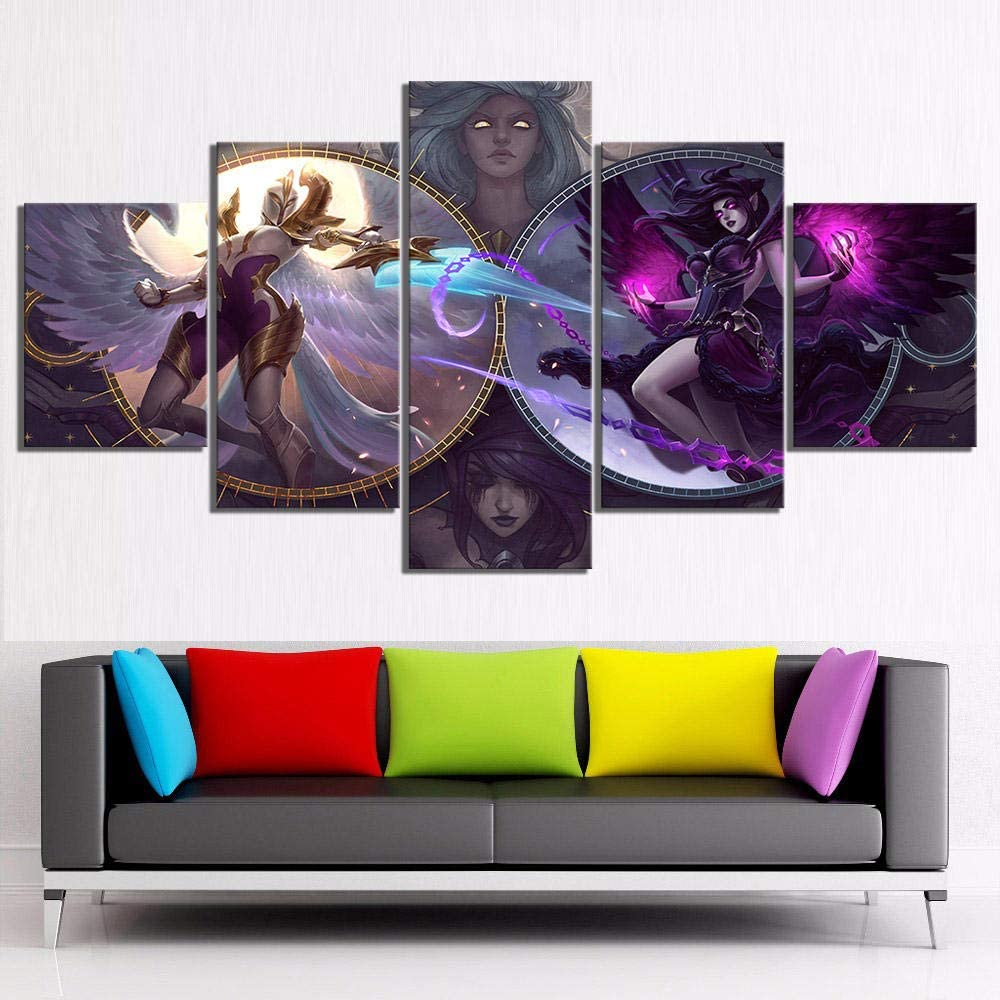 New color KBJKKL Five Consecutive Paintings Canvas Prints Painting De Home Over item handling ☆