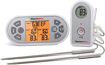 ThermoPro TP22 Digital Wireless Remote Cooking Food Meat Thermometer for Oven Smoker BBQ Grill Thermometer with Dual Probe