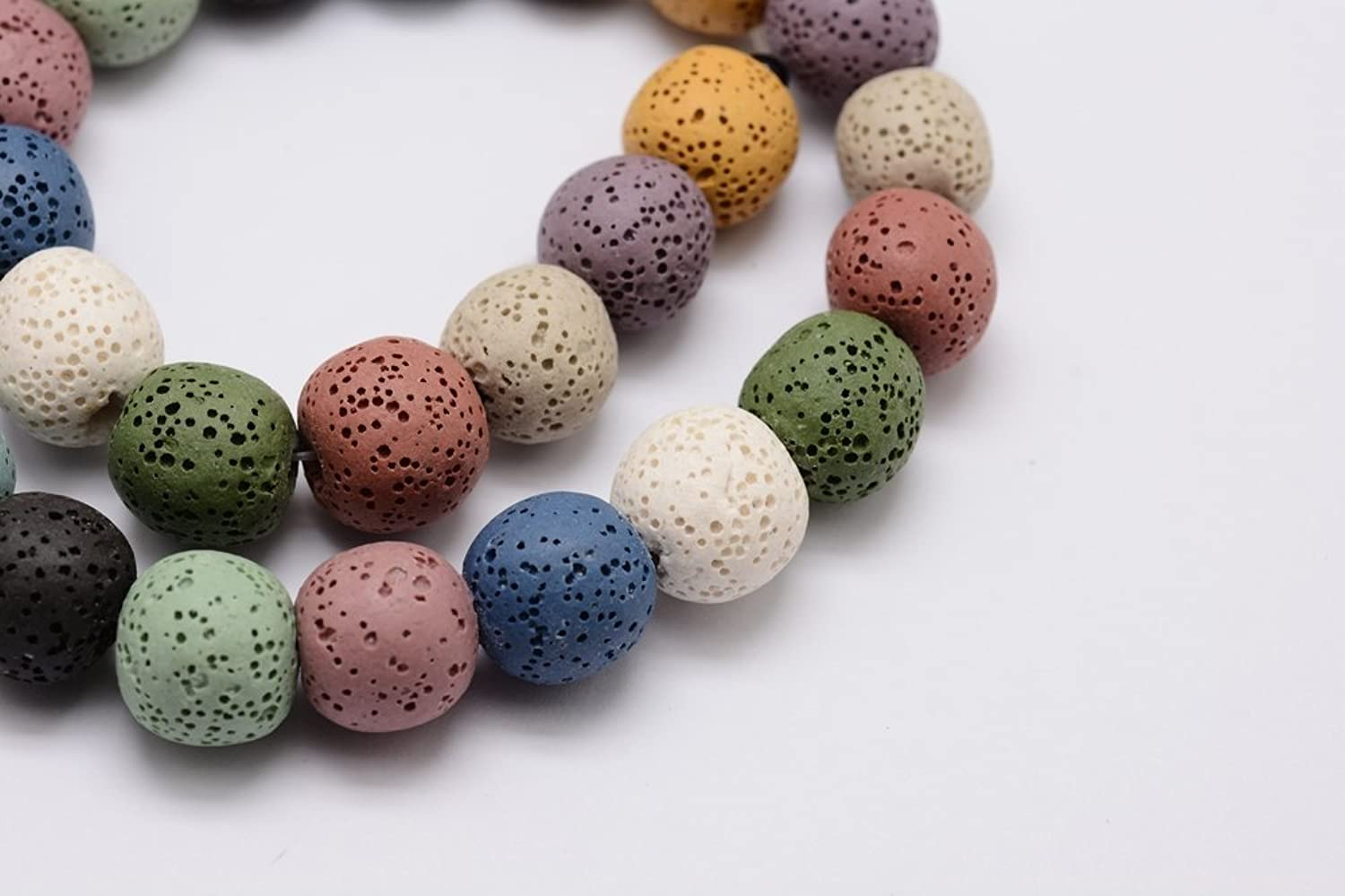 Mixed Colourot Dyed Lava 7-8mm Beads - Approx 50 Beads Enhanced - P00106XB B07BZZ2V5M | Online Outlet Shop