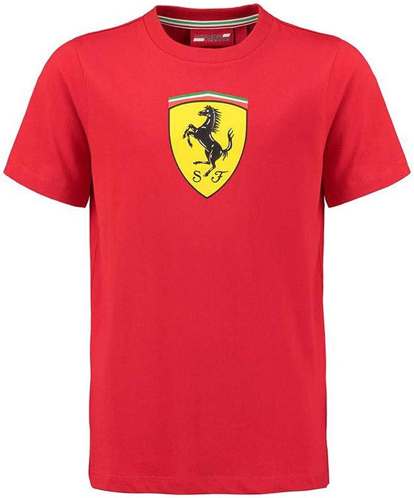 Scuderia ferrari kids classic t-shirt, maglietta per bambino, in 100% cotone 130181070-600-092