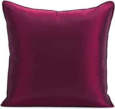 HPD Half Price Drapes SSTF-6-CC18PR Silk Taffeta Cushion Covers - Pair (2 Pieces), 18 X 18, Chambord