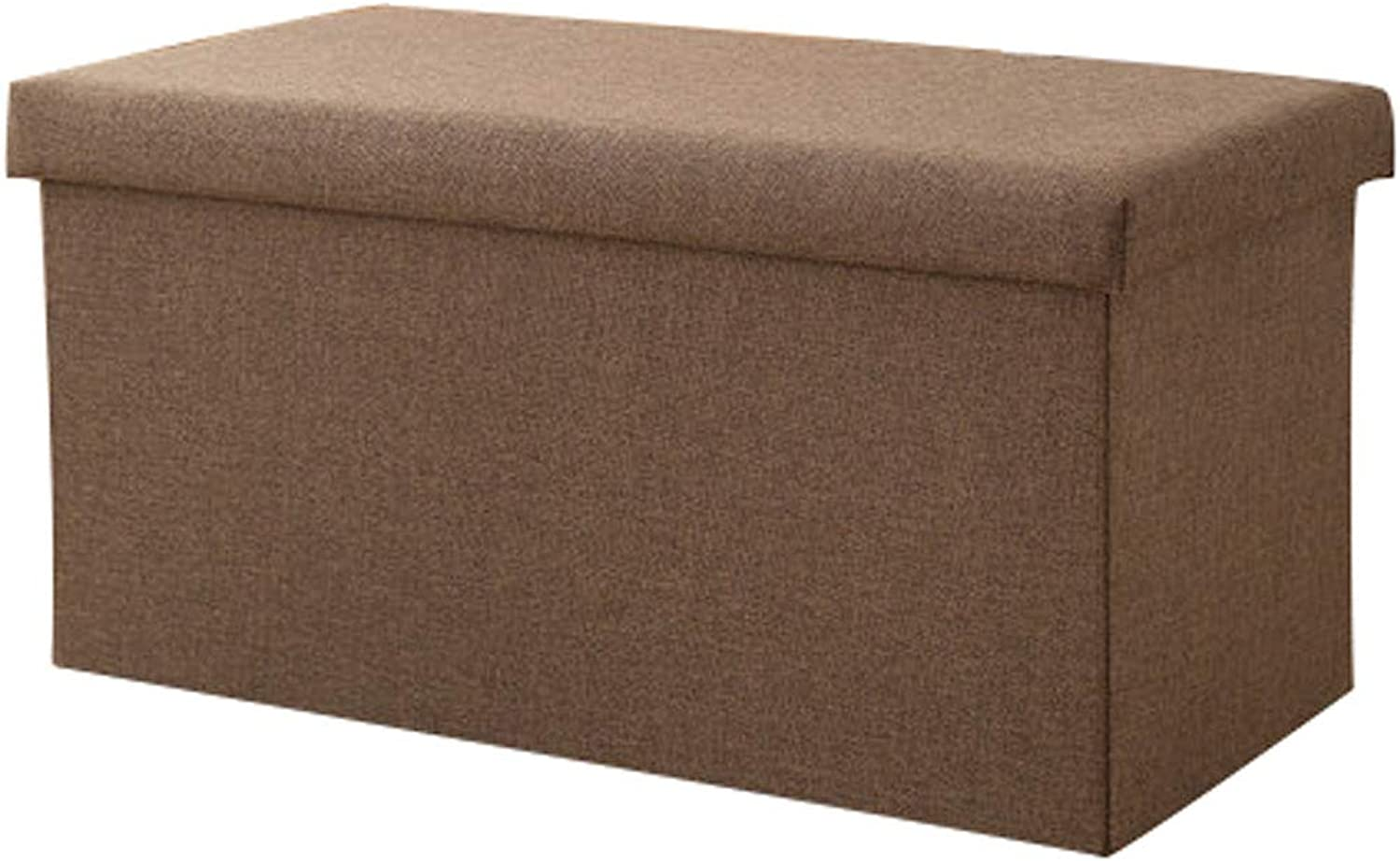 Household Storage Box Rectangular Storage Stool Storage Stool Can Sit Adult Sofa Bench Change shoes Bench, Multi-color, Multi-Size (color   Brown Coffee, Size   60  36  36cm)