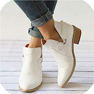 Women Boots Leather Cossacks Women Shoes Ankle Boots for Shoes Woman Cowboy Boots