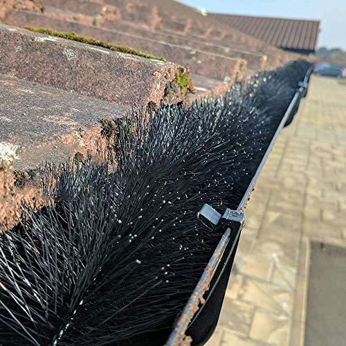 GroundMaster Gutter Guard Brush - Drain Downpipe Leaves Filter (4m (13ft), Black)