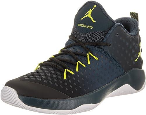 Hauszapatos Jordan – Extra Fly negro amarillo azul Talla  44