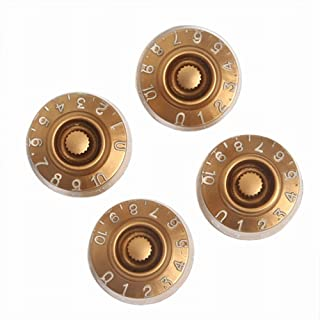 Kmise Electric Guitar Control Speed Knobs for Gibson Les Paul LP Knob Parts Replacement 4 Pcs (Control Knob-18)