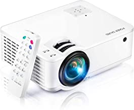 """Projector, [2020 Updated] Mini Projector 1080P Supported, 5500 Lux 210"""" Display with 52,000 Hrs LED Movie Projector Compat..."""