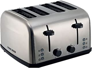 Black+Decker 4 Slice Stainless Steel Cool Touch Toaster with Crumb Tray, Silver - ET304-B5, 2 Year Warranty