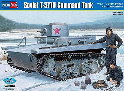 Hobbyboss 1:35 - Light Tank - Late Soviet T-37TU Command Tank