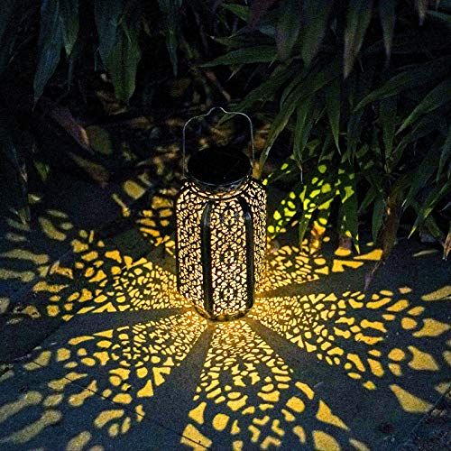 Outdoor Solar Lantern Decor Hanging Solar Lights Garden Decorations with Waterproof Solar Powered...