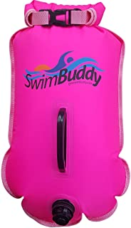 Swim Buddy Touring Pink Personal Swim Float for Open Water Swimming, Superior Puncture Resistant Material, Extremely High Visibility