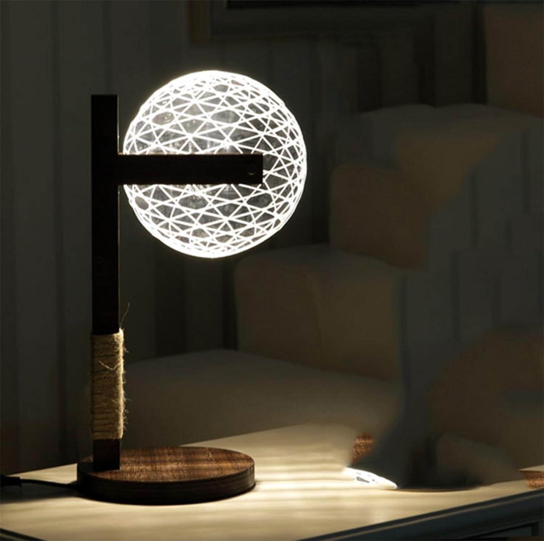 QGGL Tischlampe LED Acryl Schlafzimmer Nachttischlampe Dekoration Innenbeleuchtung 3D Visual Experience