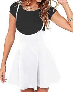 Women's Suspender Skirts Basic High Waist Versatile Flared Skater Skirts