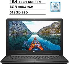 Dell 2019 Inspiron 15 3000 i3576 15.6 Inch HD Laptop (Intel Core i3-8130U 3.40 GHz, 8GB DDR4 RAM, 512GB SSD, Bluetooth, WiFi, Windows 10, Black) (Renewed)