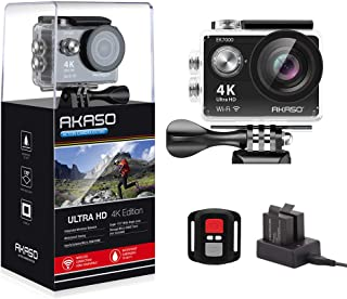 AKASO EK7000 4K WiFi Sports Action Camera Ultra HD 12MP Waterproof DV Camcorder 170 Degree Wide Angle 2 Inch LCD Screen w/...
