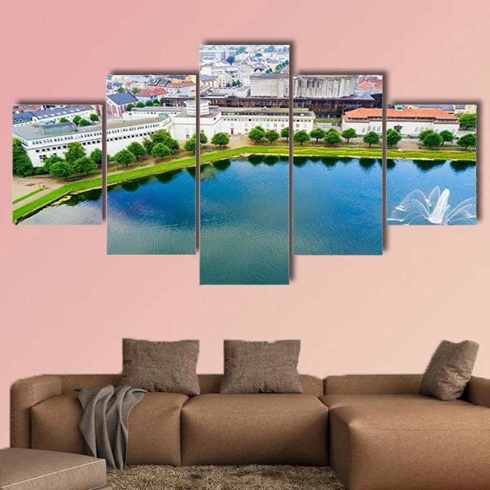 5 piece canvas painting Bombing new work panel art Picture decor can wall Max 71% OFF Board