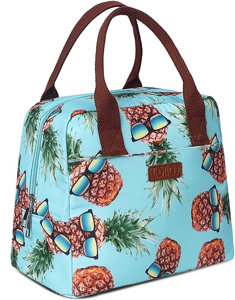 DIIG Pineapple Lunch Bag for Insulated Women Reusable Large It is very popular Brand Cheap Sale Venue Lun